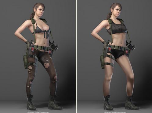 Backstory feito para caber um projeto sexualizada vs. um design feito para caber uma história de fundo que requer um personagem para usar roupas mínimas.
