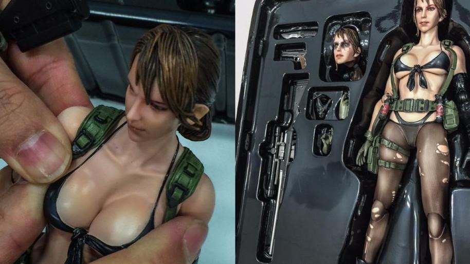 Se você ia discutir que o design dela é prático pra uma mulher no Afeganistão, gostaria de te lembrar que a boneca oficial da Quiet tem