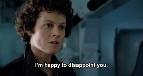 Ripley mandando a real: estou feliz em desapontá-lo.